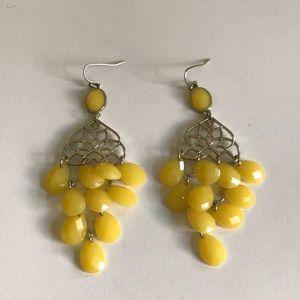 Chandelier earrings💛Lemon yellow